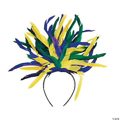 Mardi Gras Feather Headbands