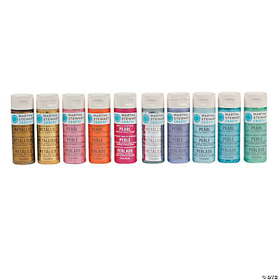 Martha Stewart Crafts™ Pearl & Metallic Acrylic Paint Set