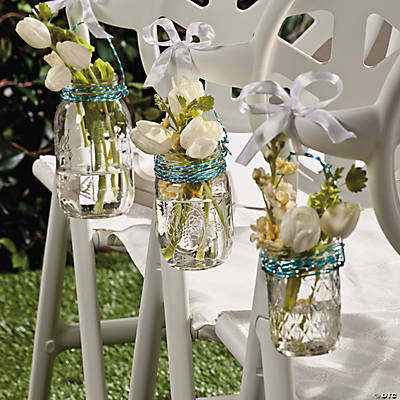 mason jar chair decorations idea