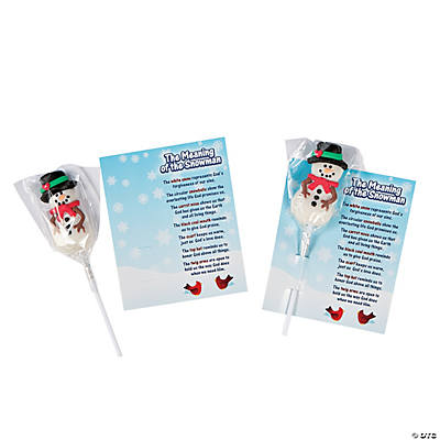 """Meaning of the Snowman"" Suckers with Card"