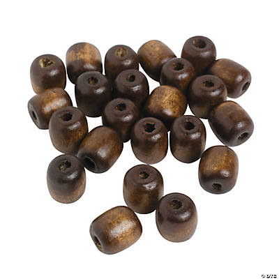 Medium Barrel Wood Beads - 16mm