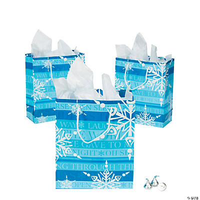 Medium Blue & White Gift Bags