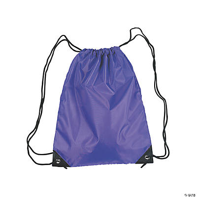 Medium Drawstring Backpacks - Purple