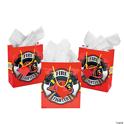 Medium Firefighter Party Gift Bags
