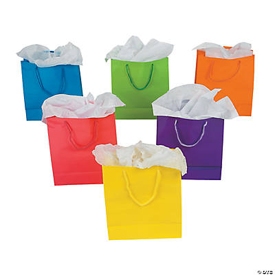 Easter goody bags treats favors for kids easter goodie bags medium neon gift bags negle Image collections