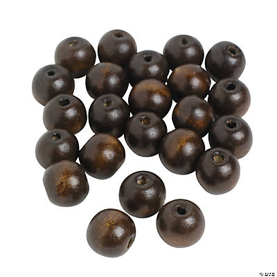 Medium Round Wood Beads - 18mm