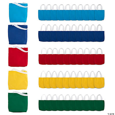 Mega Small Canvas Tote Bag Assortment
