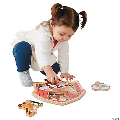Melissa & Doug® Farm Animal Knob Puzzle