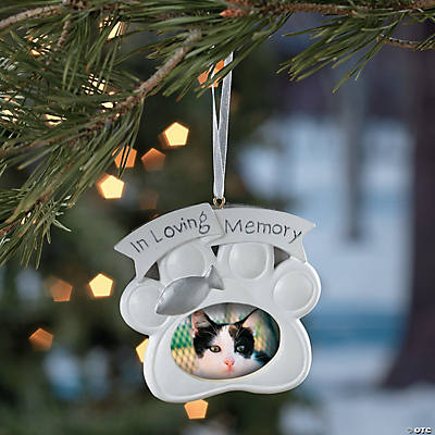 Memorial Cat Christmas Ornament
