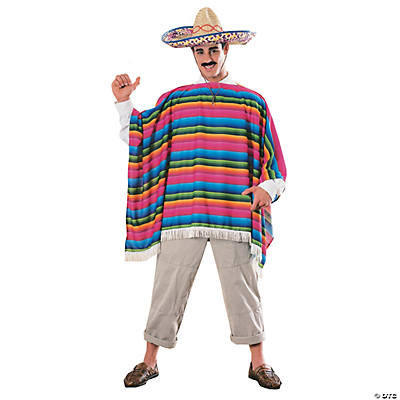 Men's Mexican Poncho Costume