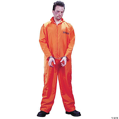Men's Orange Jumpsuit Got Busted Prison Costume