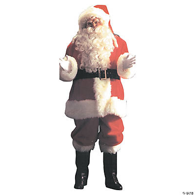 Men's Plus Size Deluxe Santa Suit Costume