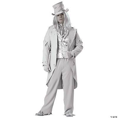 Men's Plus Size Ghostly Gent Costume