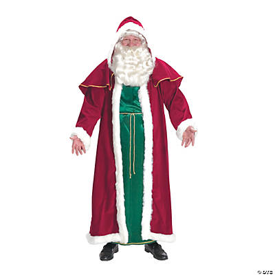 Men's Plus Size Victorian Santa Suit Costume