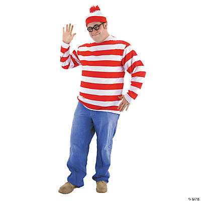 Men's Plus Size Where's Waldo Costume Kit