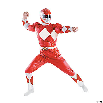 Men's Red Power Ranger Costume