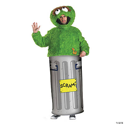 Men's Retro Sesame Street Oscar the Grouch Costume