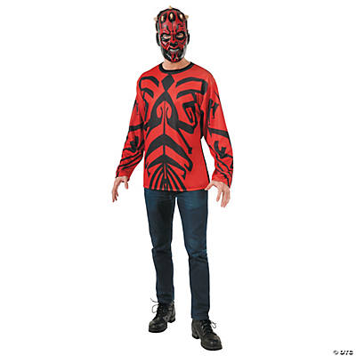 Men's Star Wars™ Shirt and Mask Darth Maul Costume