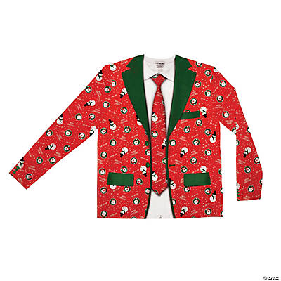 Men's Ugly Christmas Suit and Tie Costume