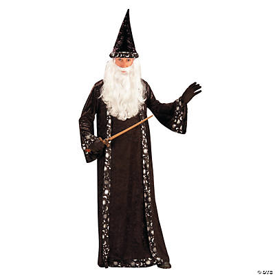 Men's Wizard Hat and Robe Costume