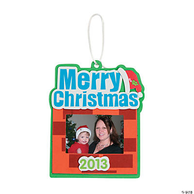 """2013 Merry Christmas"" Picture Frame Christmas Ornament Craft Kit"