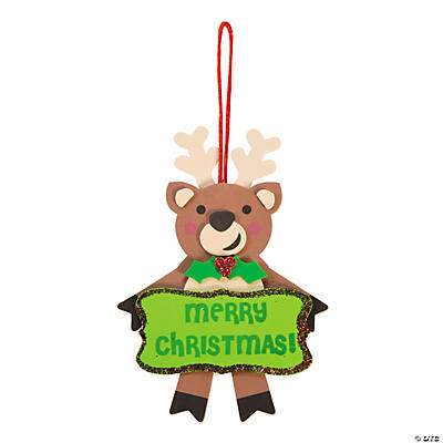 """Merry Christmas"" Reindeer Christmas Ornament Craft Kit"
