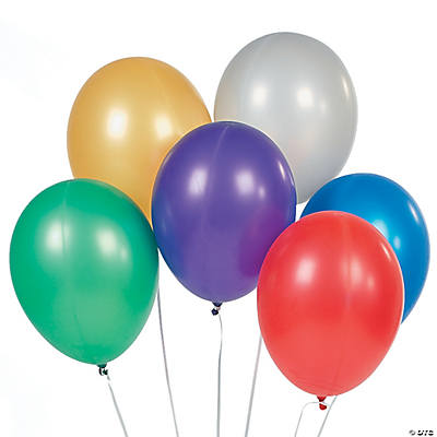 "Metallic Colored 11"" Latex Balloons"
