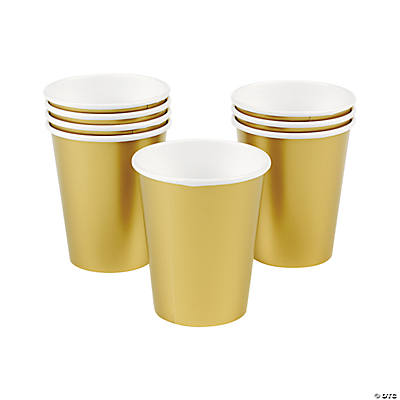 Metallic Gold Party Cups