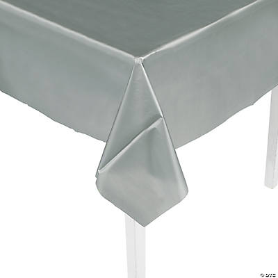 Metallic Silver Tablecloth