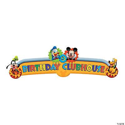 Mickey Playtime Birthday Banner