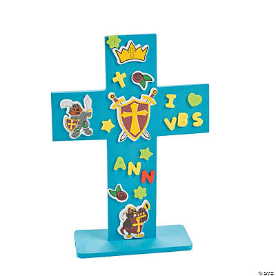 """Mighty Kingdom"" Stand-Up Cross Craft Kit"