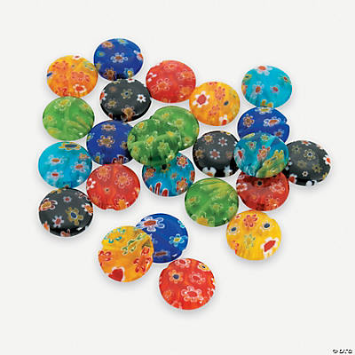 Millefiori Round Beads - 12mm