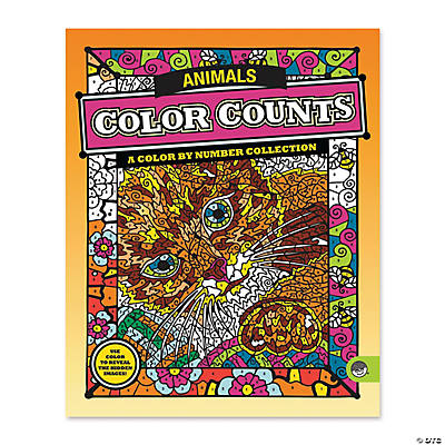 mindware color counts animals coloring book - Mindware Coloring Books