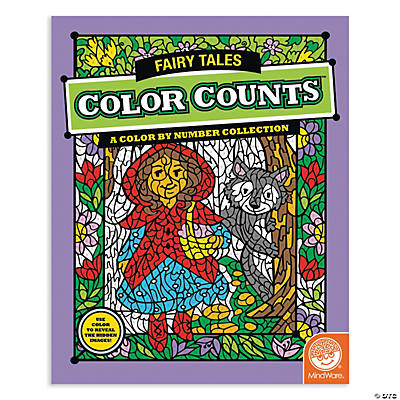 mindware color counts fairy tales coloring book - Mindware Coloring Books