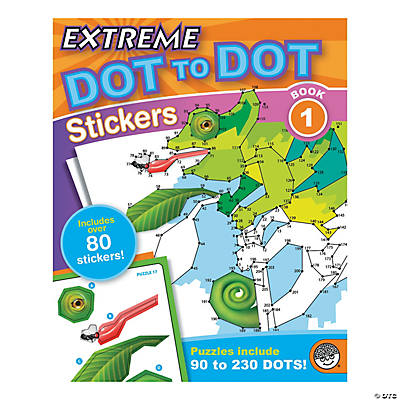 mindware extreme dot to dot stickers coloring book 1 - Mindware Coloring Books