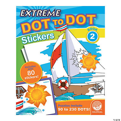 mindware extreme dot to dot stickers coloring book 2 - Mindware Coloring Books