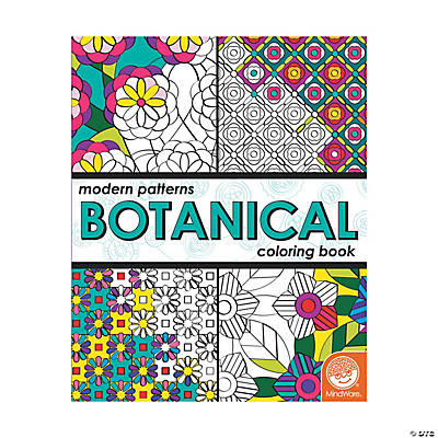 mindware modern pattern botanical adult coloring books - Mindware Coloring Books