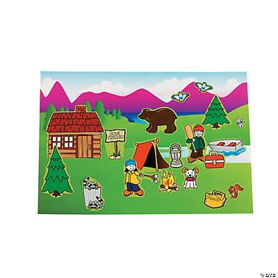 Mini Camping Sticker Scenes