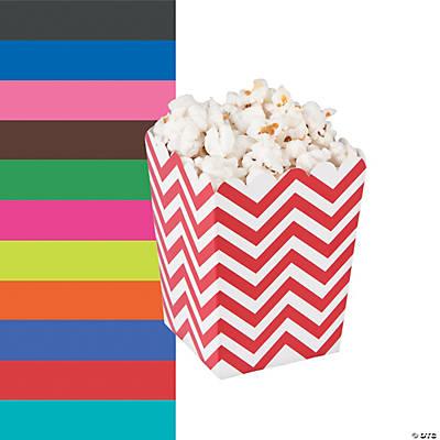 mini chevron popcorn boxes