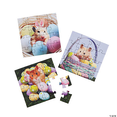 Mini Easter Hamster Puzzles
