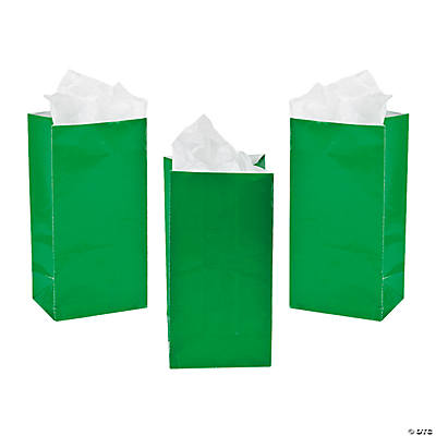 Mini Green Treat Bags