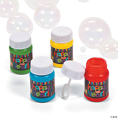 "Mini ""Happy New Year"" Bubble Bottles"