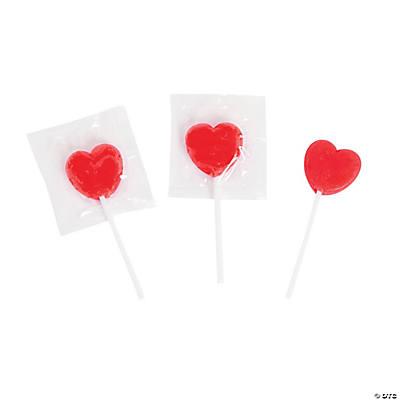 mini heart lollipops - Valentine Lollipops