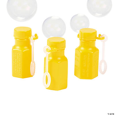 Mini Hexagon Yellow Bubble Bottles
