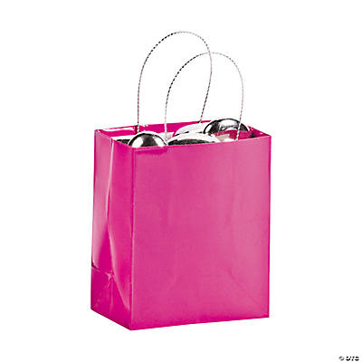 Mini Hot Pink Gift Bags