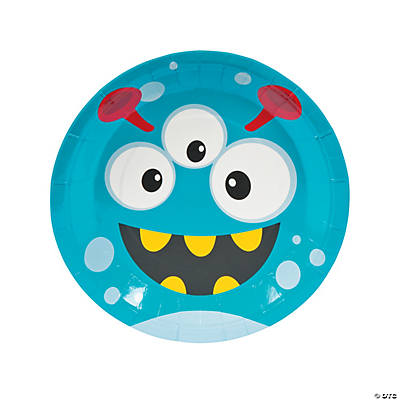 Mini Monster Paper Dinner Plates  sc 1 st  Oriental Trading & Save on Multicolor Party Plates | Oriental Trading