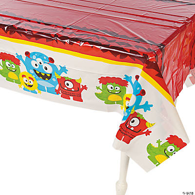 Mini Monster Plastic Tablecloth
