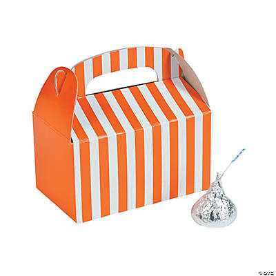 Mini Orange Striped Treat Boxes