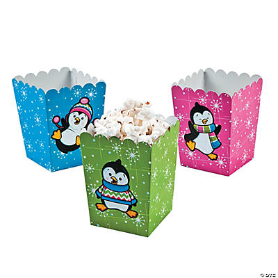 Mini Penguin Party Popcorn Boxes