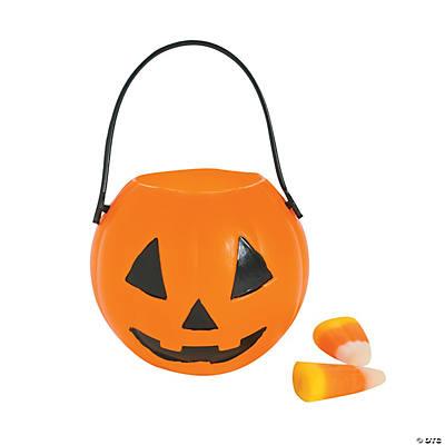 Mini Plastic Pumpkin Buckets - Oriental Trading